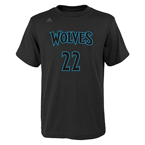 fan products of NBA Minnesota Timberwolves Boys Youth Hyper Name and Number Short Sleeve Tee, Large (14-16), Black