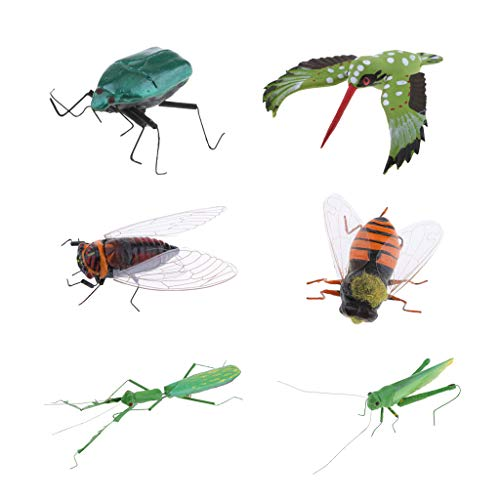 DYNWAVE 6X Mini Insect Bug Figures, Bug Toys for Birthday, Christmas, Halloween Decoration