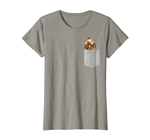 Womens Dog in Your Pocket Brussels Griffon t shirt shirt Medium Slate