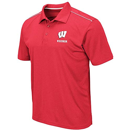 Mens Wisconsin Badgers Eagle Short Sleeve Polo Shirt - XL