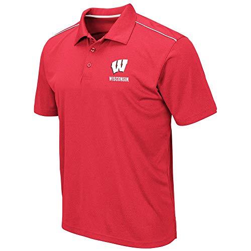 Jerseys Solid Baseball Badger (Mens Wisconsin Badgers Eagle Short Sleeve Polo Shirt - XL)