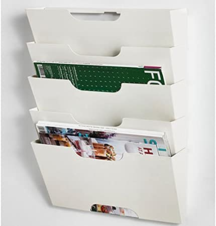 IKEA KVISSLE – revistero de pared Metal blanco por Ikea producto de oficina: Amazon.es: Hogar