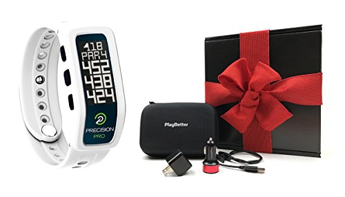 Precision Pro Golf GPS Band (White) GIFT BOX | Bundle includes Golf GPS Band, PlayBetter USB Car & Wall Charging Adapters, PlayBetter Hard Case | Gift Box & Red Bow by Precision Pro (Image #7)