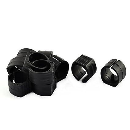 DealMux plástico T-Silla en Forma de Pipa del pie Abrazaderas Tacos Caps 26mm Dia 10pcs Negro