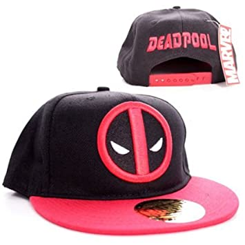 Marvel Comics Superhero Deadpool Men s Snapback CAP-Classic Logo Baseball  CAP Black  Amazon.co.uk  Sports   Outdoors ae9d7476ab4c
