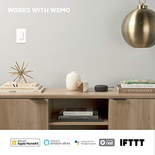 Wemo Wi-Fi Light Switch 3-Way 2-Pack Bundle – Control Lighting from Anywhere, Easy In-Wall Installation, Works with Alexa, Google Assistant and Apple HomeKit (WLS0403-BDL) 41A 2Beuu5aaL