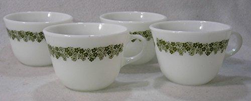Pyrex Spring Blossom, Crazy Daisy Tea Cups, Set of 4