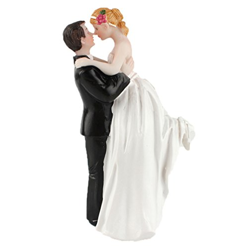 yepmax Love Wedding Cake Toppers Funny Vintage figurines couple 3 X 3 X 6 Inch - Wedding Romantic Cake Toppers