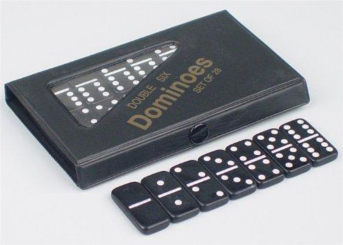 (Mini Double 6 Black Dominoes)