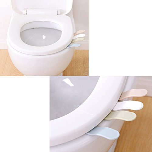 Cosmos Pack Of 2 White Toilet Seat Pad Cover Lifter Lift