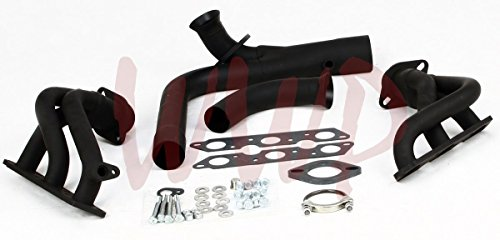 Black Coated Performance Exhaust Header System For 95-02 Chevy Camaro Pontiac Firebird 3.8L V6