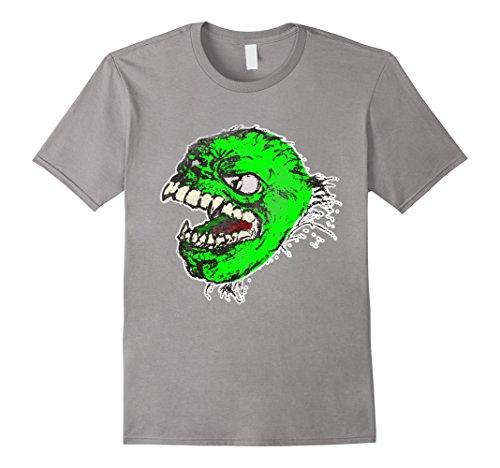 Adult Vintage Monster Costumes (Mens Halloween Vampire Zombie T-Shirt Monster Adult Costume Tee Small Slate)