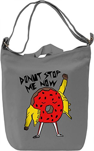Donut Stop Me Now Borsa Giornaliera Canvas Canvas Day Bag| 100% Premium Cotton Canvas| DTG Printing|