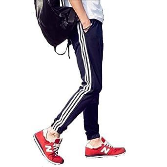 メンズ ジャージ スエットパンツ スキニーパンツ ラインズボン サイドラインパンツ ジョガーパンツ ズボン (S