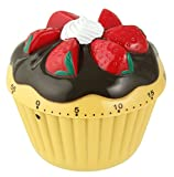 Zenker 41937 Minute-Timer Cupcake, Yellow/Black/Red/White, 2.76'' x 2.76''