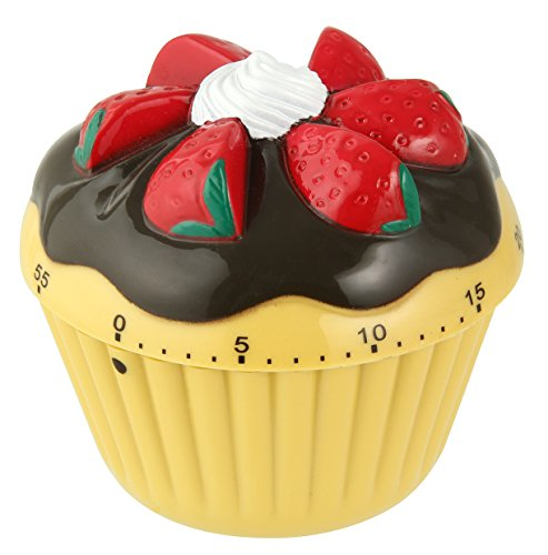 "Price comparison product image Zenker 41937 Minute-Timer Cupcake,  Yellow / Black / Red / White,  2.76"" x 2.76"""