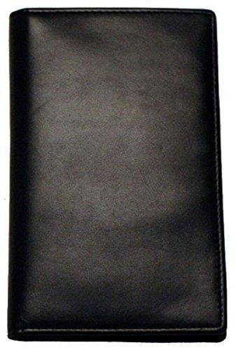 Slim Breast Leather Pocket Wallet in Black Winn Slim Wallet