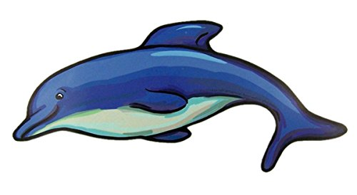 Mad Mags Blue Dolphin Decorative Magnet Decal for Car, Refrigerator, or Office, 7 3/4 - Dolphin Magnet