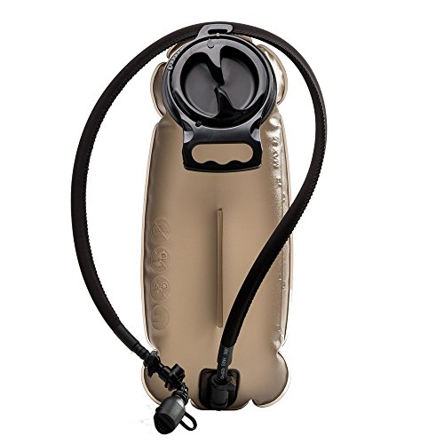 BONLEX Hydration Bladder for Hydration Pack 100Oz/3-L Military Quality Water Reservoir Wide-Opening Tastefree BPA Free for Traveling,Hiking Camping (Coffee Color)