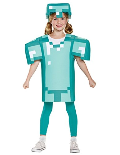 Armor Classic Minecraft Costume, Blue, Medium (7-8) -