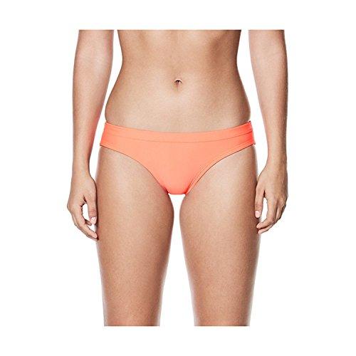 Nike Solid Performance Sport Bikini Bottom Female Hot Punch Large