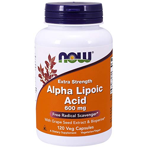 NOW Alpha Lipoic Acid 600 mg,120 Veg Capsules