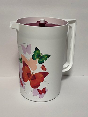 Tupperware Butterfly Gallon Pitcher with Push Button Top