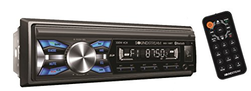 Soundstream MX-10BT Car Digital Media Player Stereo Receiver with Built-in Bluetooth Hands-Free Calling Music Streaming USB AUX SD Card Inputs RGB Multi-Color Illumination AM FM Radio Remote Control by Soundstream
