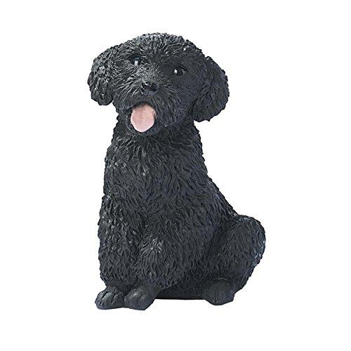 Design Toscano Black Poodle Puppy Dog Statue, Multicolored