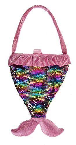 G Ganz Baby Toddler Girl Mermaid Sequin Purse 14 inches (Pink)