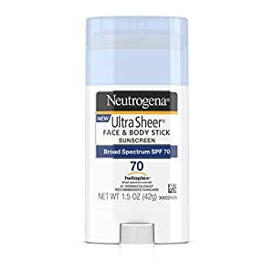 Neutrogena Ultra Sheer Face & Body Stick Sunscreen Broad Spectrum Spf 70, 1.5 Oz.