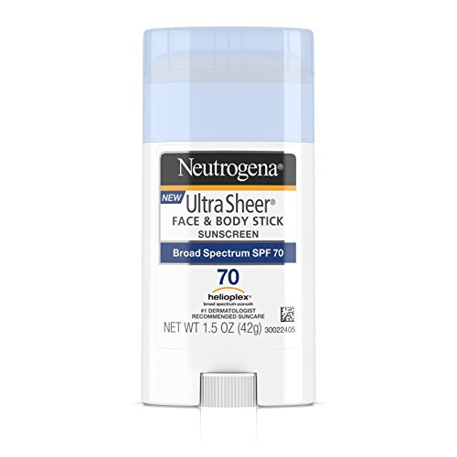 Neutrogena Ultra Sheer Face & Body Stick Sunscreen Broad Spectrum SPF 70, 1.5 Oz