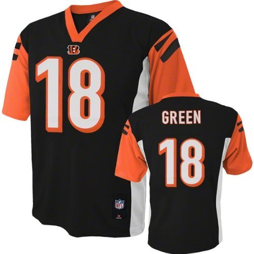 A J  Green Cincinnati Bengals  18 Nfl Youth Black Jersey  Youth Xlarge 18 20