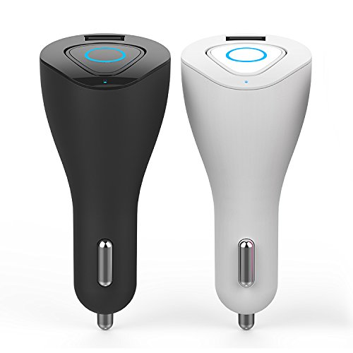 Granvela Car Charger Bluetooth Headphone 2in1, Wireless Bluetooth Stereo Earphone and Fast Car Charger for iPhone Android Smartphones, Tablets, Music Players, R6000, Black by Granvela