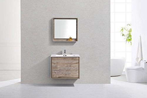 "De Lusso 30"" Nature Wood Wall Mount Modern Bathroom Vanity -  - bathroom-vanities, bathroom-fixtures-hardware, bathroom - 41A%2BlAOZj8L -"