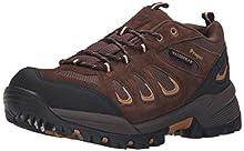 Propet Men's Ridge Walker Low Hiking Boot Ankle Bootie, Brown, 9 3E US