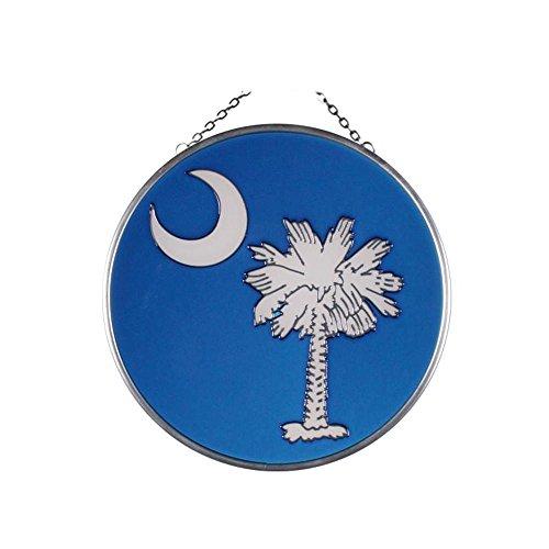 (South Carolina Emblem Painted Glass Suncatcher X-055)