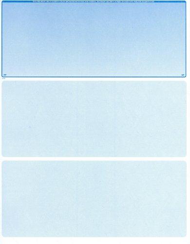2500 Blank Laser Checks - Top Check - Blue - Best Security by MyLaserChecks
