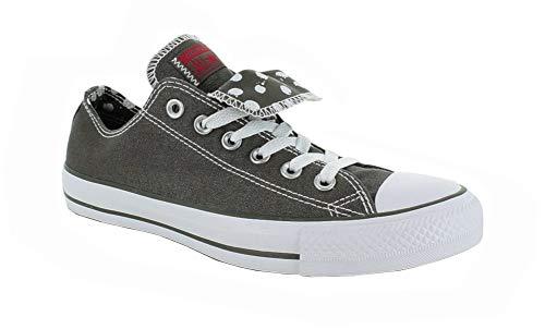 Converse Chuck Taylor WOMEN'S All Star Grey double tongue Ox 534760f Women's 8 Double Tongue Ox Shoes