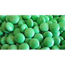 Green Choco Candy Buttons 1 lb Bag