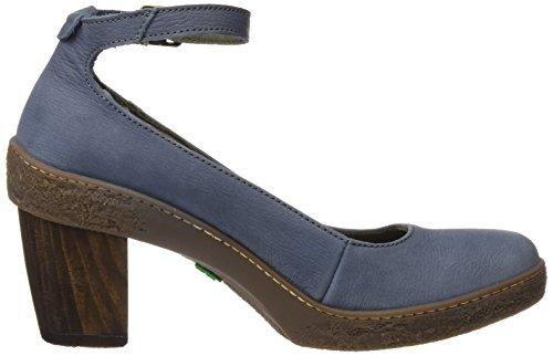 El Naturalista Damen Nf76 Pleasant Lichen Schuhe mit Knöchelriemen Blau (Vaquero)