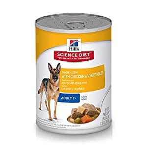 Hill's Science Diet Canned Dog Food, Adult 7+, Savory Stew with Chicken & Vegetables, 12.8 oz, 12-pack 20
