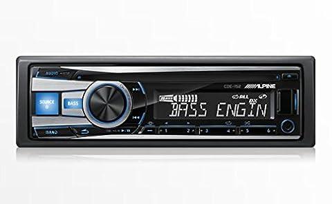 Alpine CDE-152 CD/MP3/WMA Single DIN Car CD Receiver with Bass Engine SQ, Blue - 1990 Bmw M3 Engine