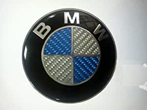 bmw carbon fiber blue silver emblem badge logo. Black Bedroom Furniture Sets. Home Design Ideas