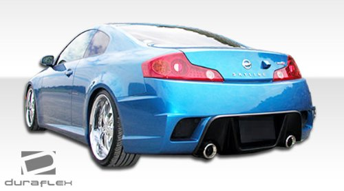 Duraflex ED-FBL-959 K-1 Rear Bumper Cover - 1 Piece Body Kit - Compatible For Infiniti G Coupe 2003-2007