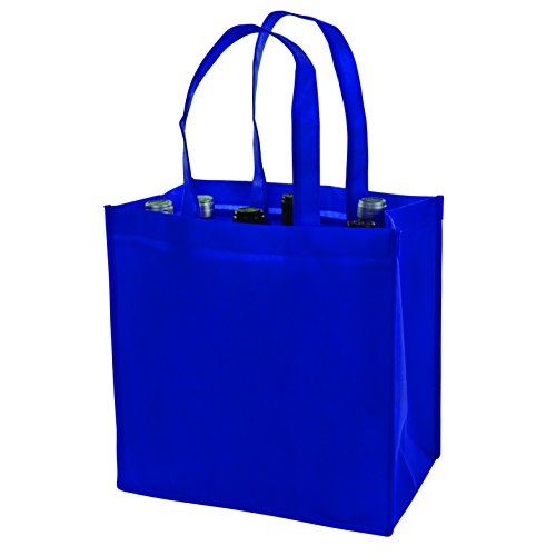 TRUE 3158 6 Bottle Non Woven Tote, Blue