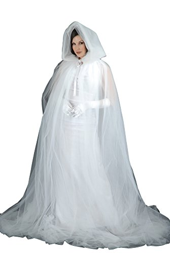 (Charades Adult Ghost Cape Costume Accessory, One Size,)