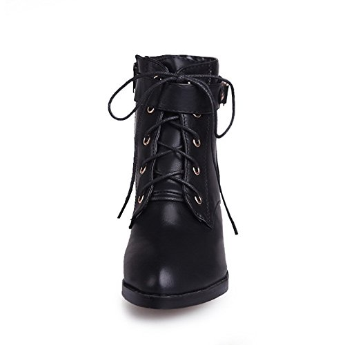 Black Womens Snap with Metal US Rubber Pointed Solid Heels Synthetic Toe Boots 5 B AmoonyFashion M Closed 7 Kitten 1OqdxOSw