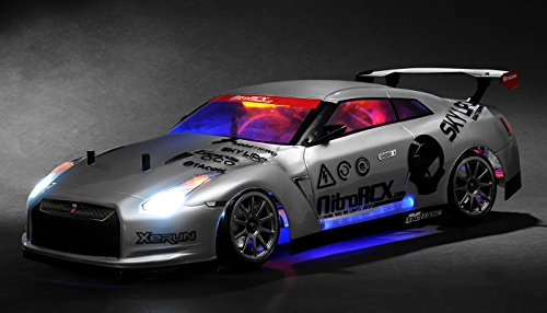 Exceed RC 2.4Ghz MadSpeed Drift King Brushless Edition 1/10 Electric Ready to Run Drift Car w/ LED Head Lights (Silver)