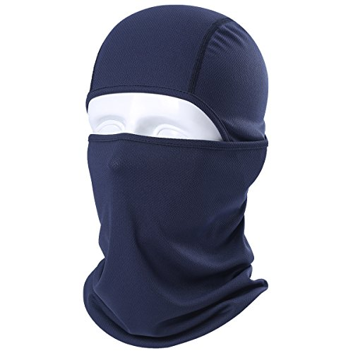 Face Mask Back Navy - JIUSY Balaclava Breathable Windproof Face Mask Protection Helmet Liner for Motorcycle Cycling Skiing Snowboarding Hunting Hiking Tactical Airsoft Paintball fit Men Women Youth Adult Navy Blue BE-AA-05